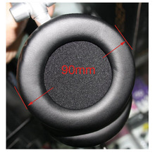 Buy 2pcs/pair 90mm Leather Earphone Foam Earbud big ear buds Headphone 9cm Ear pads cushion Sponge Covers Tips sony MDR-V700DJ for $2.70 in AliExpress store