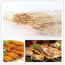 100pcs/pack Bamboo Skewers Grill Shish Kabob Wood Sticks Barbecue BBQ Tools Outdoor Barbecue Skewer Friendly 30-40cmx3.5mm
