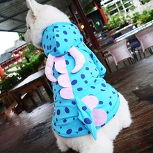 Funny Halloween pet cat dog dinosaur costume clothes big dog puppy cotton padded jacket coat golden retriever large dog clothes