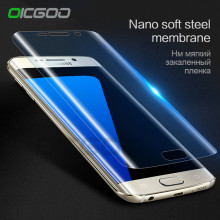OICGOO 3D Curved Soft Screen Protector For Samsung Galaxy S6 S7 Edge Protective Film For Samsung S8 S8 Plus (Not Tempered Glass)(China)