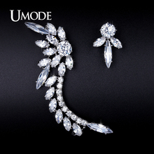 UMODE Punk Style Mismatched Stud Earrings for Women Earring Fashion Jacket Jewelry 2016 Ear Cuff Brincos Oorbellen Kolczy UE0209(China)