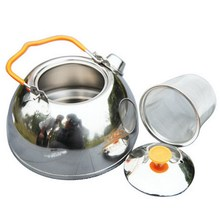 1.1L Outdoor Water Kettles Stainless Steel Coffee Camping Pot Water Kettle Teapot for Camping picnic hiking Barbecue(China)