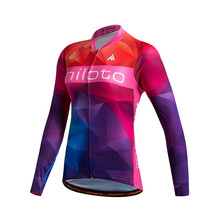 Buy Miloto 2017 pro team Long Sleeve Cycling Jersey Women Racing Sport mtb Bike Jersey Autumn/Spring Road Bicycle Cycling Clothing for $16.19 in AliExpress store