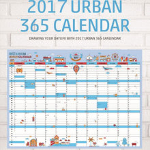 Practical 2017 Calendar Office Month Planner Schedule Hanging Wall Sticker