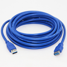5M 16FT USB 3.0 Extension Cable Male to Female M/F Dual Shielding Foil+Braided  High Speed Transmission Blue