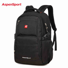 AspenSport Top Brand Waterproof Fashion Backpack Unisex Men's Backpacks for Laptop Women Notebook Bag Backpack 15.6 to17 Inch(China)