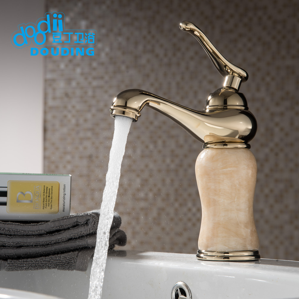 ORB bronze wash basin faucet brass and jade waterfall faucet ...