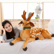 Dorimytrader  43'' / 110 Large Sika Deer Stuffed Soft Plush Giant Animal Emulational Deer Toy Nice Gift Free Shipping DY60751