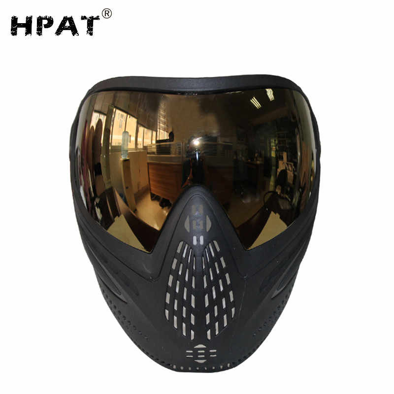 Paintball Maske DYE I5 FIRE Thermal Paintball Maske rot//schwarz