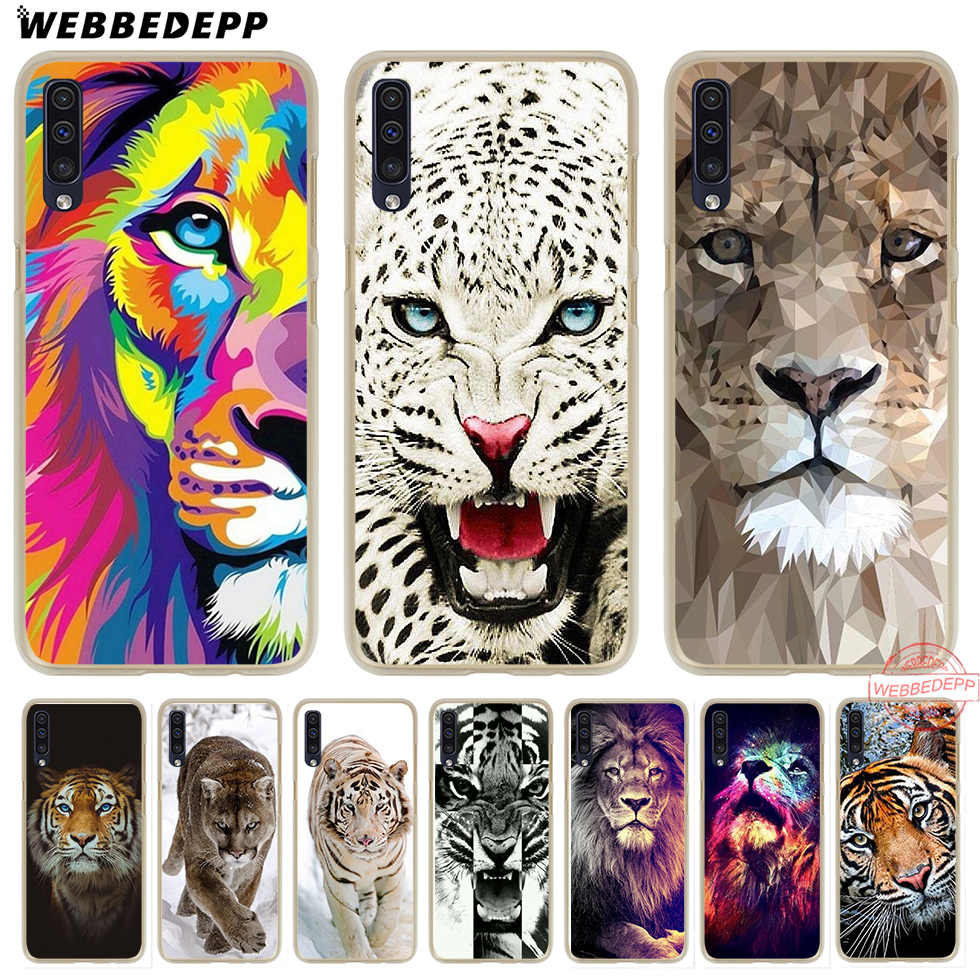Жесткий чехол WEBBEDEPP tiger lion animal howl для Samsung A50 A10s A20s A30s A40s A50s A60 A70 M10 M20 M30 M40