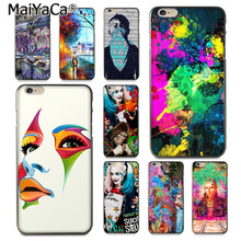 Buy MaiYaCa Painting wall Colourful Style Cell Phone Case iPhone 8 7 6 6S Plus X 10 5 5S SE 5C Coque Shell for $1.47 in AliExpress store