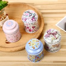 1 pcs Tea Candy Receive Box Candy Storage Tin Organizer Wedding Party Container
