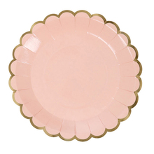 Round Paper Plates Square Paper Plates Set Solid Color Petal Party Decoration Disposable Tableware(China)