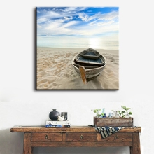 Boat Modern Seascape Giclee Canvas Prints Artwork Landscape Picture Wall Art to Photo Painting for Home Decorative Fashion Gift(China)