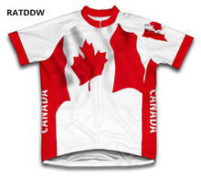 New Arrivel Canada Flag Cycling Clothing Bike Clothing Men Bicycle Jersey Red Ropa Ciclismo