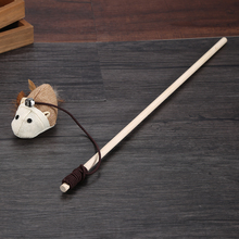 Product For Cheap Cat Toys interactive Elastic Rod Funny Cat Mouse Wood High Quality Pet Toys