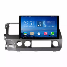 ChoGath(TM) 10.2'' 1.6GHz Quad Core RAM 1GB Android 6.1 Car Radio GPS Navigation Player for Honda Civic 2006-2011 No Canbus