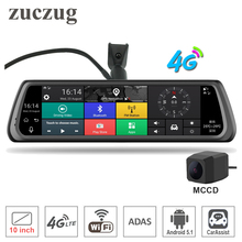 "zuczug 10"" Full Touch IPS Special 4G Car DVR Camera Android Mirror GPS Bluetooth WIFI ADAS Car Assist Dual Lens Dash Cam(China)"