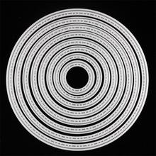8 size Circles die cuts,metal die cutting dies in scrapbooking embossing folder for cutting machine(China)