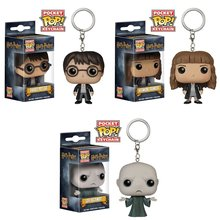 Pocket Funko Pop Keychains Harry Potter Hermione and Dark Lord Voldemort Vinyl Figure Key Chain Game of Thrones with Gift Box