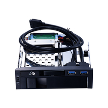 Optical drive space 2.5 inch SATA HDD/SSD and 3.5 inch SATA HDD mobile rack with LED indicator and support hot-swap(China)