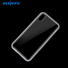 ELENXS Anti Gravity Transparent Case For iPhone 8 TPU Phone Back Case Cover Magical Sticky Case White/Black