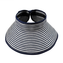 New Hot Fashion 10 Colors UV Dual Visor Empty Top Hat Sun Hat Candy stripe Beach Cap Women's With Children Fashion Free Shipping