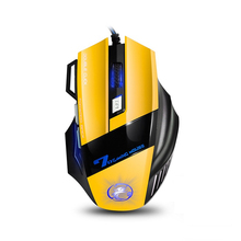 S023 Super Cool! USB LED Colorful 2400DPI Adjustable Wired Mouse Optical Wired Gaming Mouse Professional Game Mice Mouse Gamer(China)
