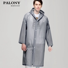 Fashion Women men EVA Transparent Raincoat Portable Outdoor Travel Rainwear Waterproof Camping Hooded Ponchos Plastic Rain Cover(China)