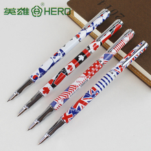 3165 0.38mm fountain pens Cartoon or National flags pens school & office stationery 2pcs/lot