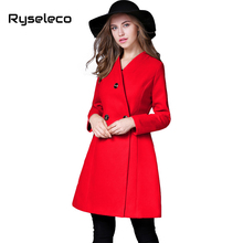 Compare Prices on Woman Red Pea Coat- Online Shopping/Buy Low ...