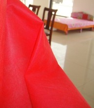 3-5m/lot 1.6m width 60/80/100/120g/square meter red non-woven interlining lining fabric cloth for wedding home textile1424(China)