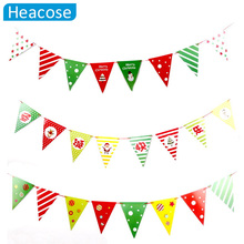 3 kinds bunting Merry Christmas Triangular Bunting Ornaments Party Home Decoration Xmas Supplies New Year - BlackLotus VIP price Store store