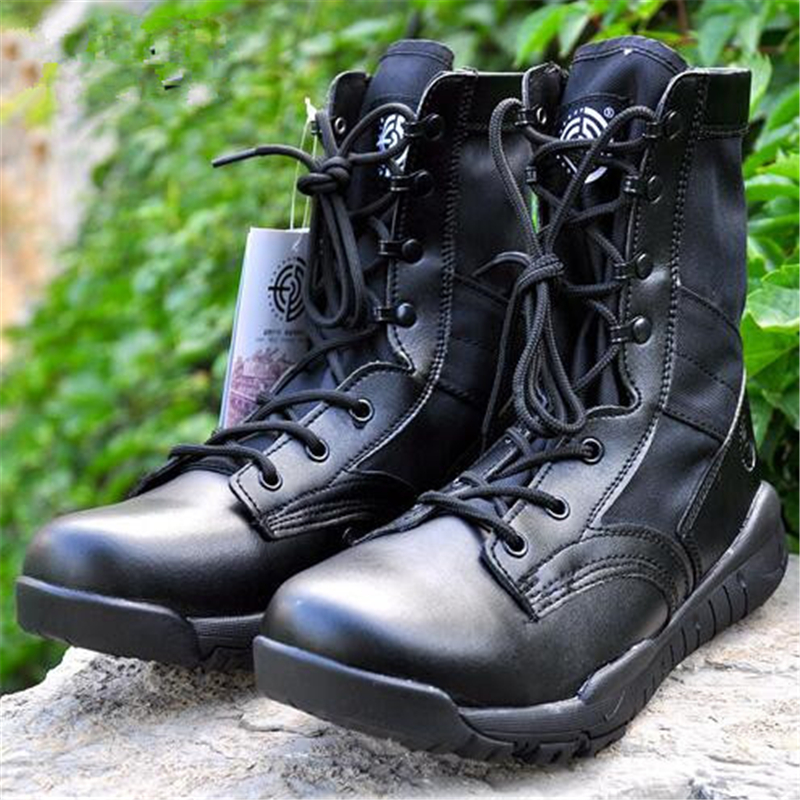 size36-47 women genuine leather army boots lightweight military tactical boots unisex combat boots outdoor work safety shoes<br><br>Aliexpress