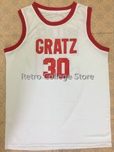 Mens #30 RASHEED WALLACE GRATZ HIGH SCHOOL North Carolina JERSEY ANY SIZE XXS - 6XL Retro Basketball Jerseys