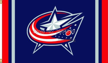 Columbus Blue Jackets Column Flag 150X90CM 100D Polyester brass grommets custom flag, Free Shipping(China)