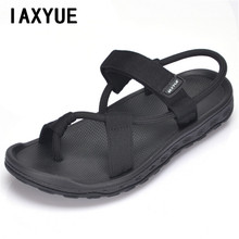 IAXYUE 2017 new summer beach shoes men sandals roma leisure breathable clip toe is cool procrastinate dual-purpose sandal male(China)