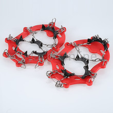 Outdoor Hiking Climbing Children 11 Teeth Claws Crampons Non-slip Shoes Cover Spikes Chain Ski Ice Snow Travel Kits(China)