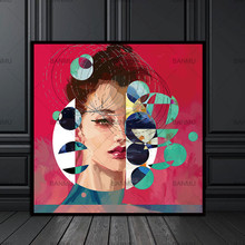 New Graffiti Street Wall Art Abstract Modern African Women Portrait Canvas Painting On Prints For Living Room