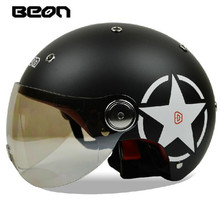Free shipping!Fashion Halley Beon half helmet E bike capacete vintage motorcycle helmets Summer helmet ECE Approved