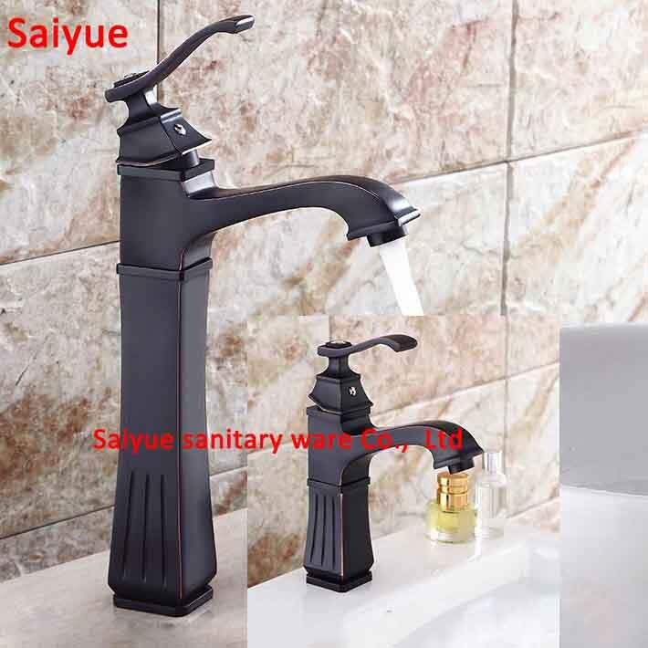 New Antique Brass Crystal Retro wholesale Bathroom Basin Sink Mixer Taps Deck Mounted Single Holder Swivel Spout Black Faucet<br><br>Aliexpress