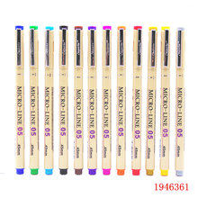 various colors 0.5mm Sketch Micron pen Superior needle drawing pen Fine liner Pigma Drawing Manga Anime Marker  New Art Markers