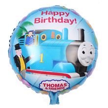 3pcs/lot 18-inch Balls Blue Train Thomas balloons birthday party balloons children's toys balao festa infantil Happy Birthday