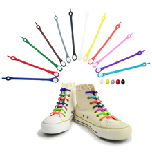 8pc Lazy People Silicone Elastic Shoelace Athletic Sneakers Strap Universal Lace Buckle cool shoes decoration s5