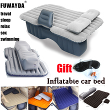 Fuwayda waterproof  hot sale Universal Car Travel Inflatable Mattress Car Inflatable Bed Air Bed Cushion Thickening  flocking