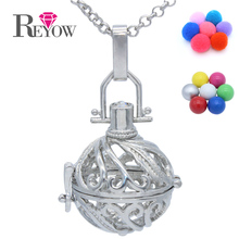 BUY 2+ GET 1 FREE!Hollow Leaves Mexico Chime Ball(1pc Random Color)Locket Pendant Essential Oil Diffuser Necklace Magic Box Gift(China)