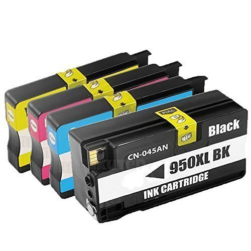 4pk compatible ink cartridge with chip for HP 950 951 for HP Officejet Pro 8100 8600 8630 8610 8620 8680 8615 8625 Printer<br><br>Aliexpress