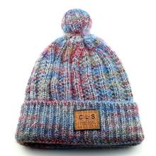 2017 Women Winter Warm Pompon Hat Beanies Girls Unique 3D CLS Knit Hat Warm Knitted Hat(China)