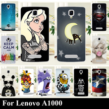 For Lenovo A1000 A 1000 Hard Plastic Mobile Phone Cover Case DIY Color Paint Painting Cellphone Bag Shell Free Shipping