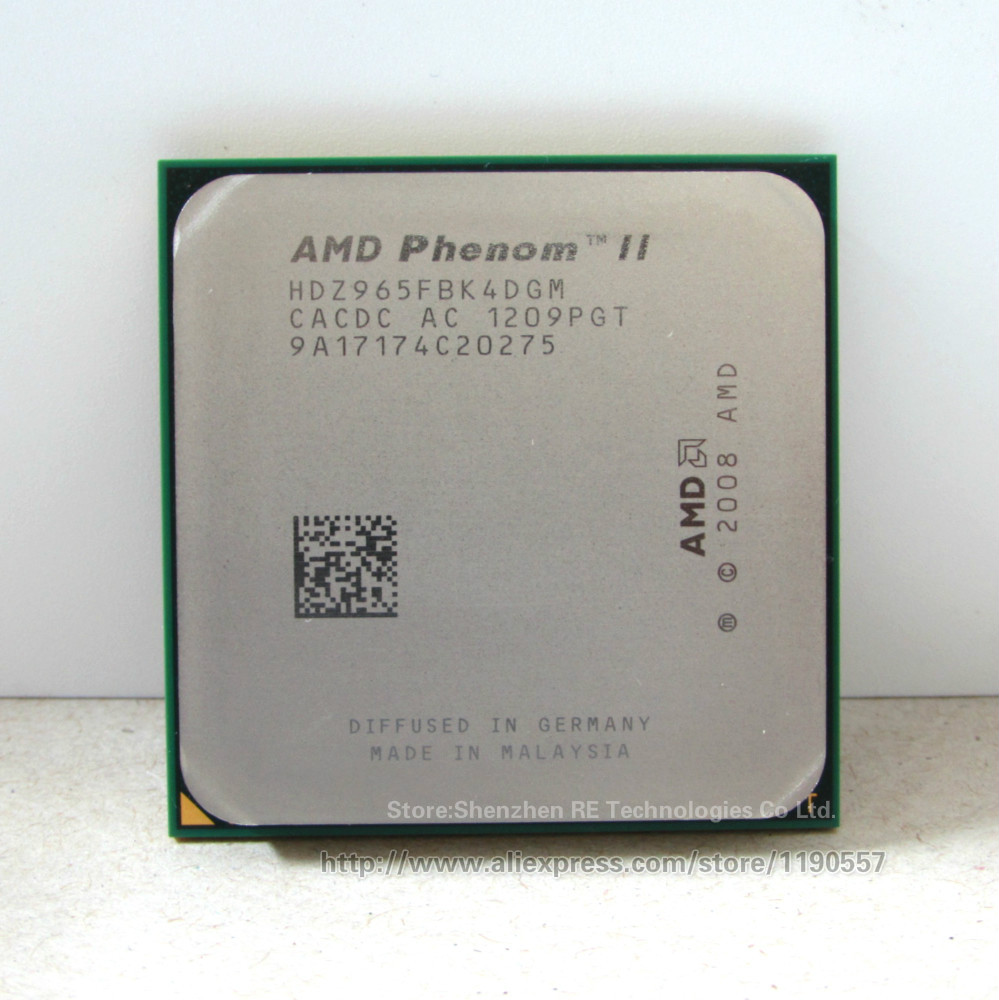 AMD Phenom II X4 965 Processor 3.4GHz/6MB L3 Cache/Socket AM3 Quad-Core scattered cpu